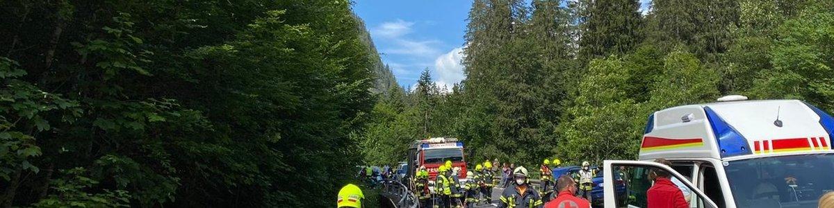 Schwerer Verkehrsunfall am Pyhrnpass