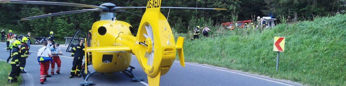 Schwerer Motorradunfall am Pyhrnpass