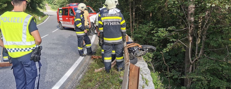 Motorradunfall am Pyhrnpass