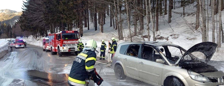 Fahrzeugbrand am Pyhrnpass