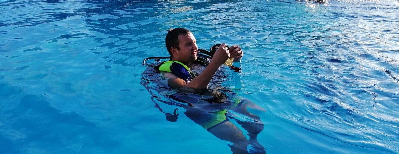 Schnuppertauchen im Schwimmbad