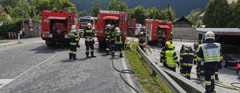 Werkstättenbrand in Liezen